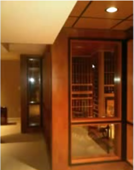 Click here to watch a video tour of this wine cellar project!
