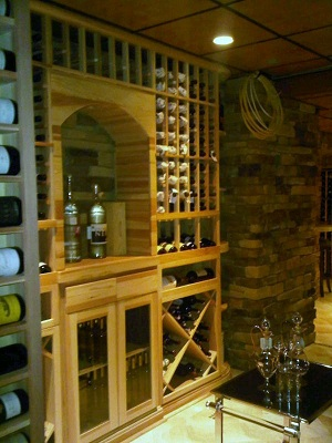 Wine Cellar Lighting and Flooring